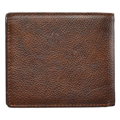 Image of Strong and Courageous Brown Genuine Leather Wallet - Joshua 1:9 other