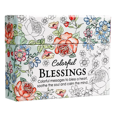 Image of Colourful Blessings Box of Encouragement Cards other