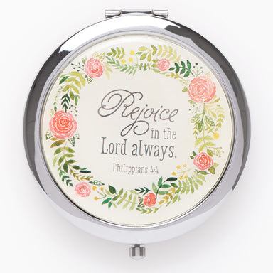 Image of Rejoice in the Lord Always Compact Mirror - Philippians 4:4 other