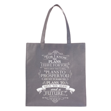 Image of For I Know the Plans Tote Shopping Bag Jeremiah 29:11 other