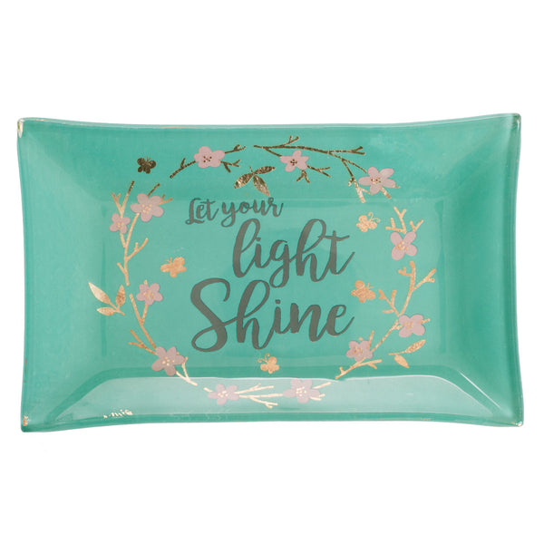Image of Let Your Light Shine Glass Tray other