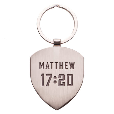 Image of Faith - Matthew 17:20 Metal Keyring other
