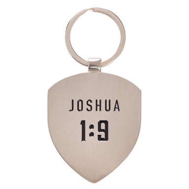 Image of Courage - Joshua 1:9 Metal Keyring other