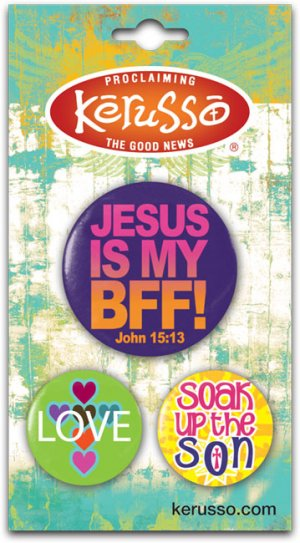Image of Jesus is my BFF Badges - Set of 3 other