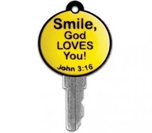 Image of Yellow Smiley Key Cover other