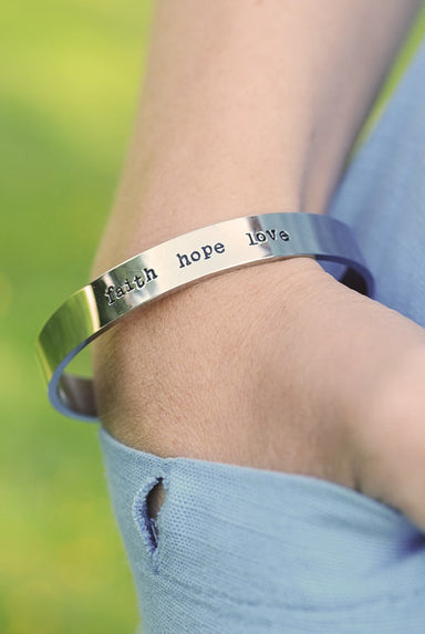 Image of Faith Hope Love Steel Bracelet other