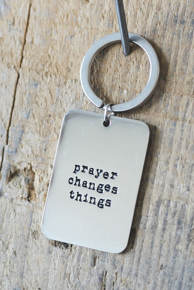 Image of Prayer Changes Things Keyring other
