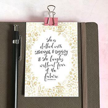 Image of She Is Clothed With Strength & Dignity Mini Card other