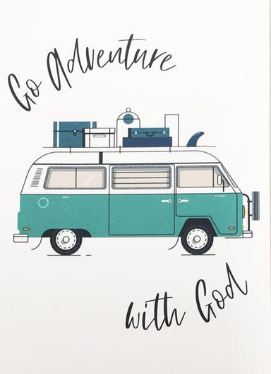 Image of Go Adventure (Teal) Mini Card other