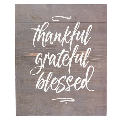 Image of Thankful Grateful Blessed Plank Wall Art other