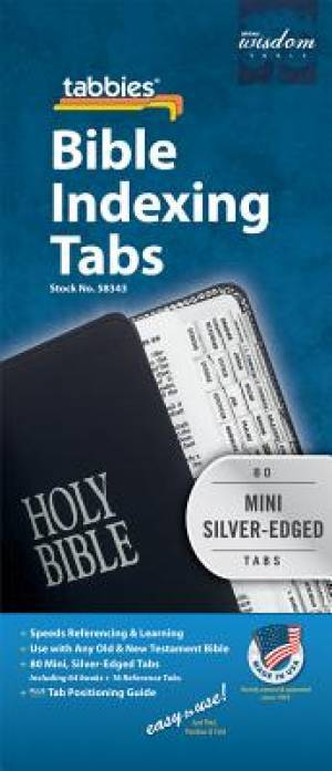 Image of Bible Index Tabs Mini Silver other