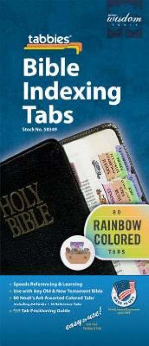 Image of Bible Index Tabs Rainbow (Child) other