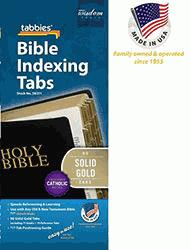 Image of Bible Index Tabs Solid Gold - Catholic other