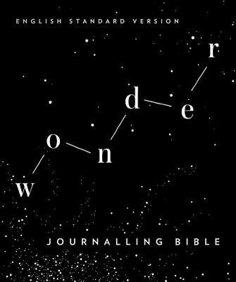 Image of ESV Wonder Journaling Bible, Black, Cloth Over Board, Wide Margins, Ribbon Marker, Presentation Page, Footnotes, Cross References, Table of Weight and Measures other