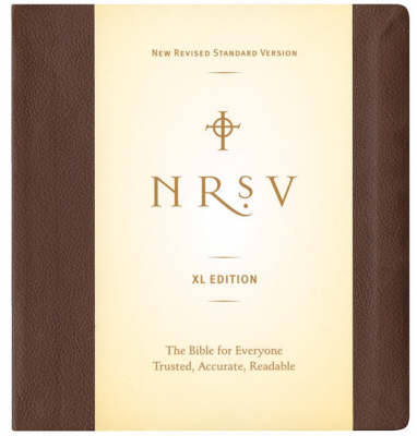 Image of NRSV Extra Large Print Bible, Brown, Imitation Leather, Concordance, Sewn Binding, Ribbon Marker other