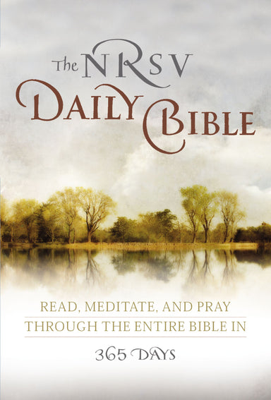 Image of NRSV Daily Bible, White, Paperback, One-Year Reading Plan, Devotional, Book Introductions, Mediations From Christian Thinkers, Lectio Divinia Practice other