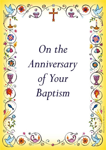 Image of Anniversary Of Baptism Card - Pack of 10 other