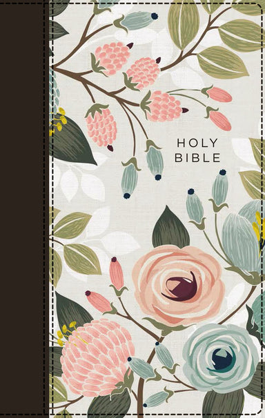 Image of NIV, Thinline Bible, Cloth over Board, Floral, Red Letter, Comfort Print other