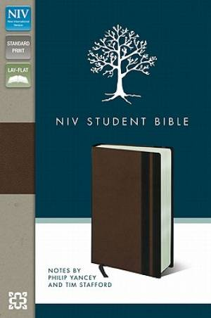 Image of NIV Student Bible Brown - Blue Imitation Leather other