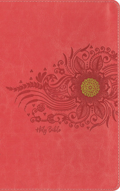 Image of NIV, Premium Gift Bible, Youth Edition, Leathersoft, Coral, Red Letter, Comfort Print other