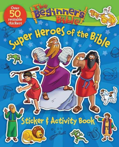 Image of The Beginner's Bible Super Heroes of the Bible Sticker and Activity Book other