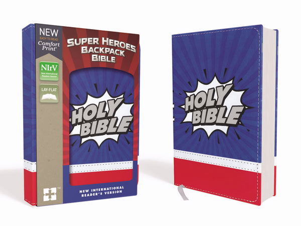 Image of NIrV Super Heroes Backpack Bible other