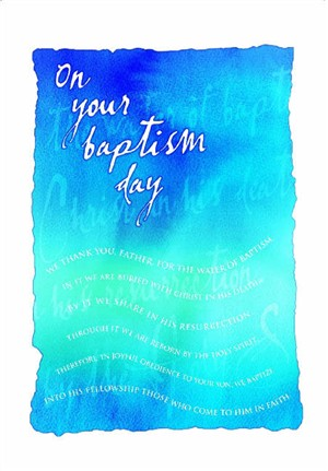 Image of Baptism Card Adult - Pack of 10 other