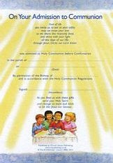 Image of Admission to Communion Certificates Pack of 10 other