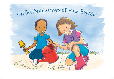 Image of Baptism Anniversary Card Children - Pack of 10 other