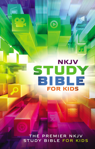 Image of NKJV Study Bible for Kids, Multi-Colour, Hardback, Maps, Dictionary, Concordance, Presentation Page, Ribbon Marker, Articles, Dates, Highlights, Biographies other