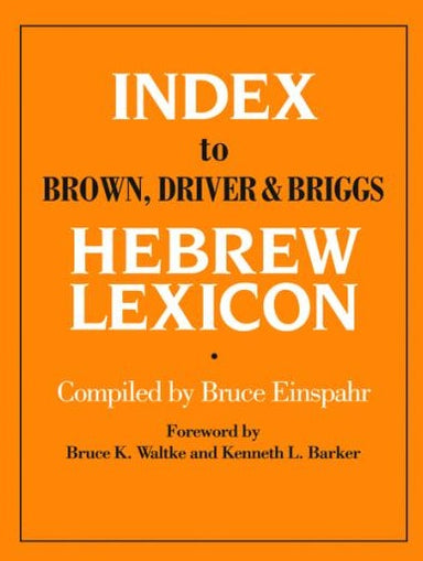 Image of Index to Brown, Driver and Briggs Hebrew Lexicon other