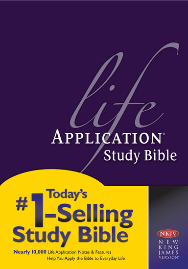 Image of NKJV Life Application Study Bible, Hardback, Purple, Red Letter, Application Notes, Maps other