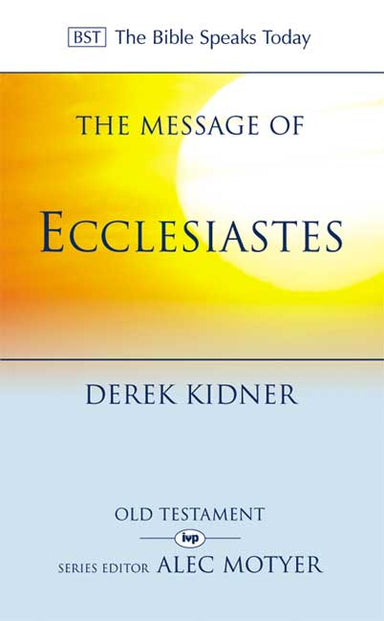 Image of The Message of Ecclesiastes other