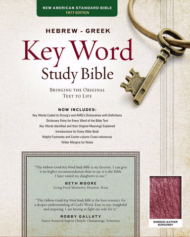 Image of NASB Key Word Study Bible: Burgundy, Bonded Leather other