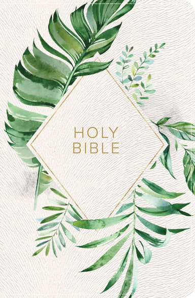 Image of KJV On-the-Go Bible, White Floral Textured LeatherTouch other