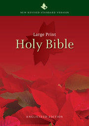 Image of NRSV Large Print Bible, Red, Hardback, Anglicised, Presentation Page, Footnotes, Separate Page Numbers, Chapter Headings, Easy-Read other