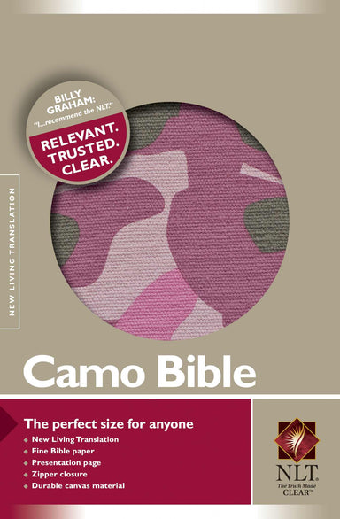 Image of NLT Compact Camouflage Bible: Pink, Canvas other