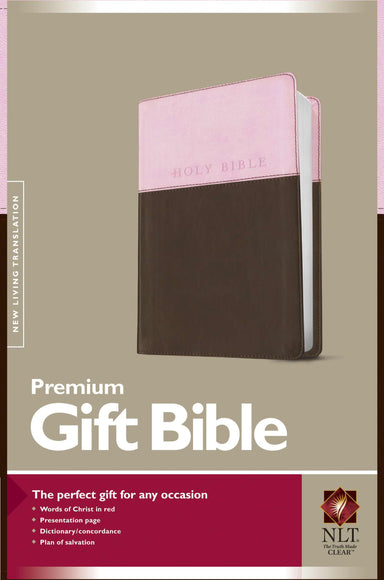 Image of NLT Gift Bible, Pink and Brown, Imitiation Leather, Red Letter, Presentation Page, Concordance, Ribbon Marker, Book Introductions, Durable Cover other