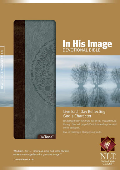 Image of NLT In His Image Devotional Bible, Dusty Blue, Imitation Leather other