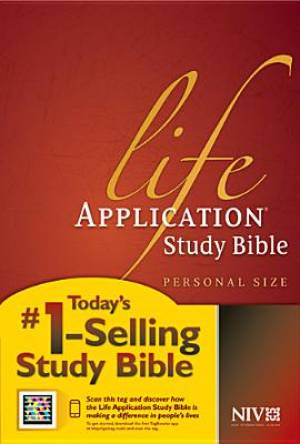 Image of NIV Life Application Study Bible Personal Size Hardback other
