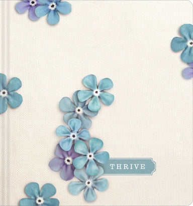 Image of NLT THRIVE Creative Journaling Devotional Bible, Hardcover, Blue Flowers, Wide Margin, Presentation Page other