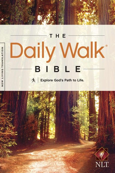 Image of NLT Daily Walk Devotional Bible, Brown, Paperback, Daily Readings, Reflections, Factual Insights other