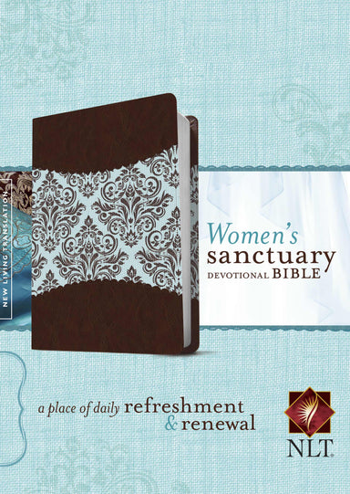 Image of NLT Womens Sanctuary Devotional Bible: Espresso/Floral Fabric and Imitation Leather other