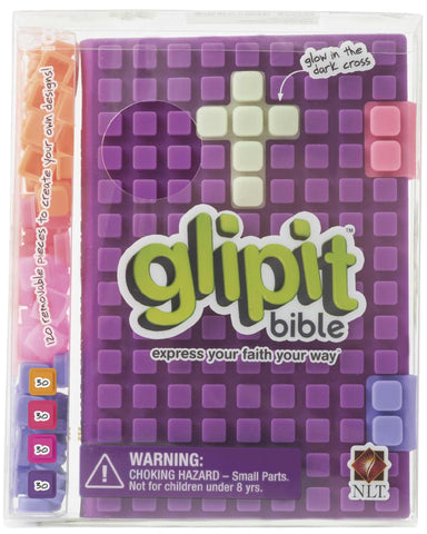 Image of NLT Glipit Bible: Purple, Customisable Silicone Cover other