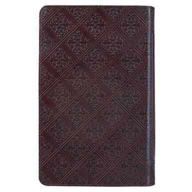 Image of KJV Giant Print Bible, Dark Brown, Lux-Leather Pattern, Words of Christ in Red, Footnote Verse Cross-Reference, Concordance, Bible Reading Plan other