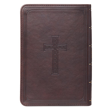 Image of KJV Compact Large Print Lux-Leather DK Brown other