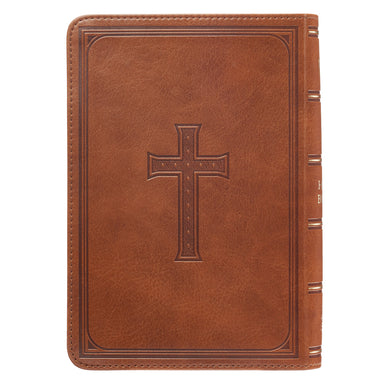 Image of KJV Compact Large Print Imitation Leather Tan Words of Christ in Red other