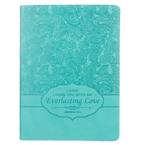 Image of Journal-Everlasting Love-Handy Size-Turquoise LuxLeather other