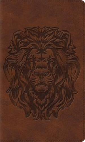 Image of ESV Thinline Bible (TruTone, Brown, Royal Lion Design) other
