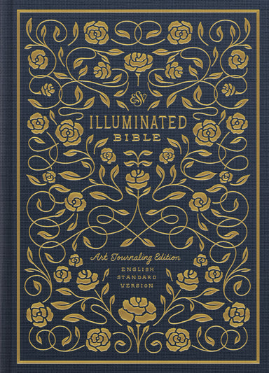 Image of ESV Illuminated Journaling Bible, Blue, Hardback,  Wide Margins, Page-Verse Illustrations, Book Opener Illustrations, Hand Lettered Margin Verses other